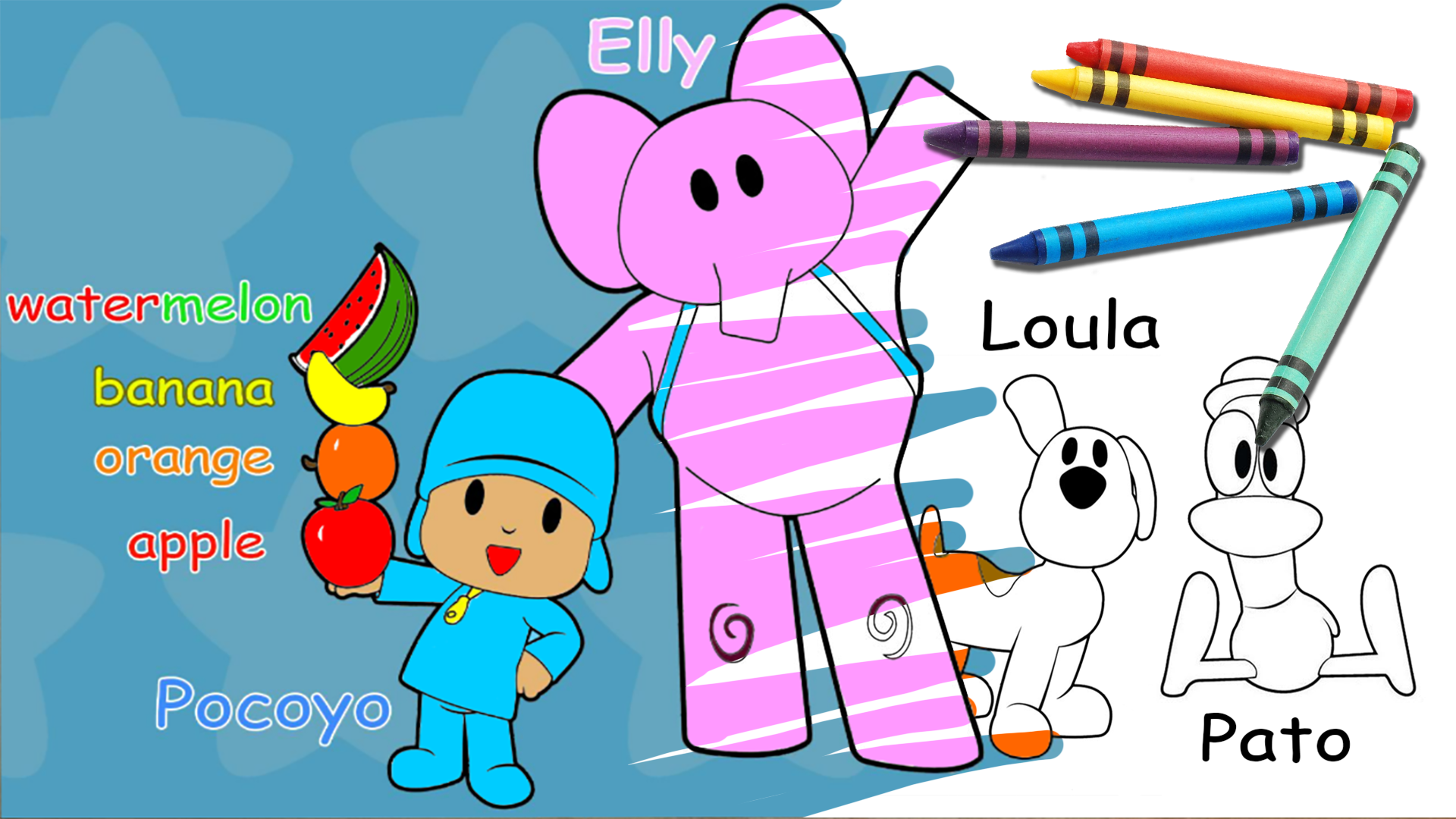 Pocoyo Coloring Page Fruit Coloring Pages Coloring Pages Coloring For Kids