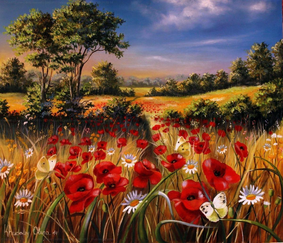 l'estate @GIGARTE.com | Dipinti floreali, Dipinti contemporanei, Dipinti  artistici