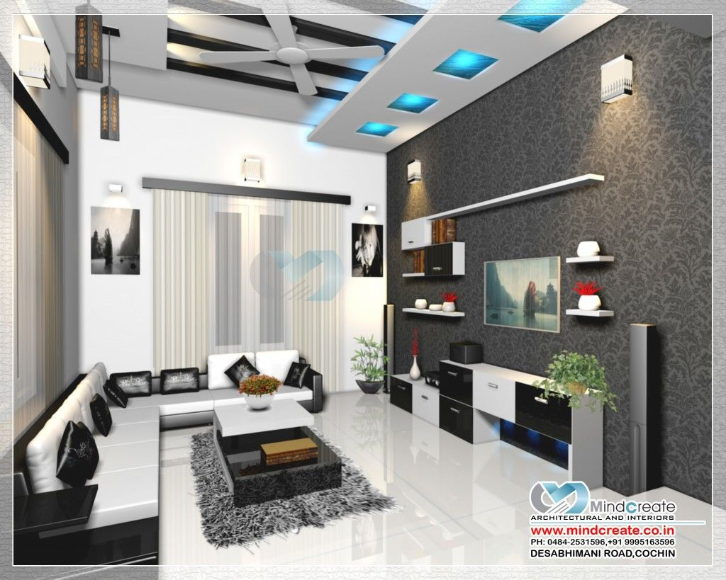 interior design living room in kerala  Living room kerala