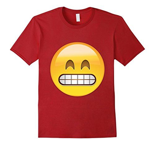 Emoji T-Shirt - Grinning face with smiling eyes $19.99 http://www