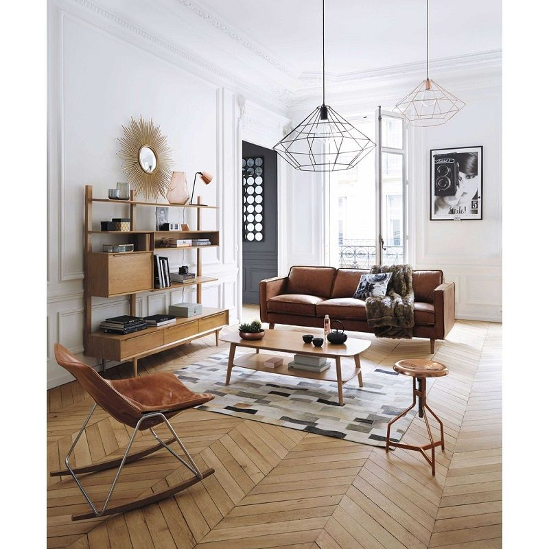canap vintage 3 places en cuir camel hipster maison pinterest salons and room. Black Bedroom Furniture Sets. Home Design Ideas