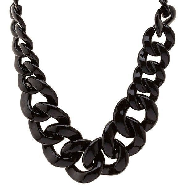 Charlotte Russe Oversized Chain Link Necklace ($6) ❤ liked on Polyvore featuring jewelry, necklaces, accessories, black, plastic jewelry, charlotte russe, oversized chain necklace, plastic necklace and black collar necklace