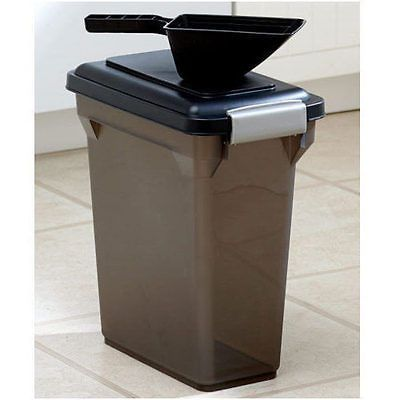 Dog Food Storage Container Dry With Scoop Pet Cat Bird Seed Canister Bin 15  QT
