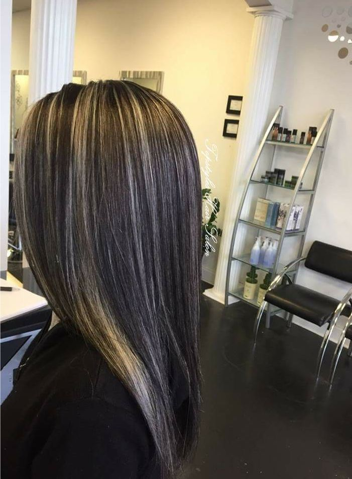 60 Shades Of Grey Silver And White Highlights For Eternal Youth Hair Styles Grey Ombre Hair Silver Hair Color