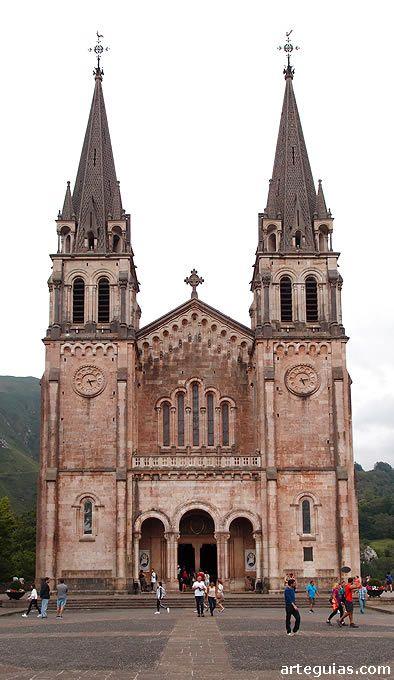 Real Sitio De Covadonga Fachadas De Iglesias Iglesias Antiguas Arquitectura Del Siglo Xix