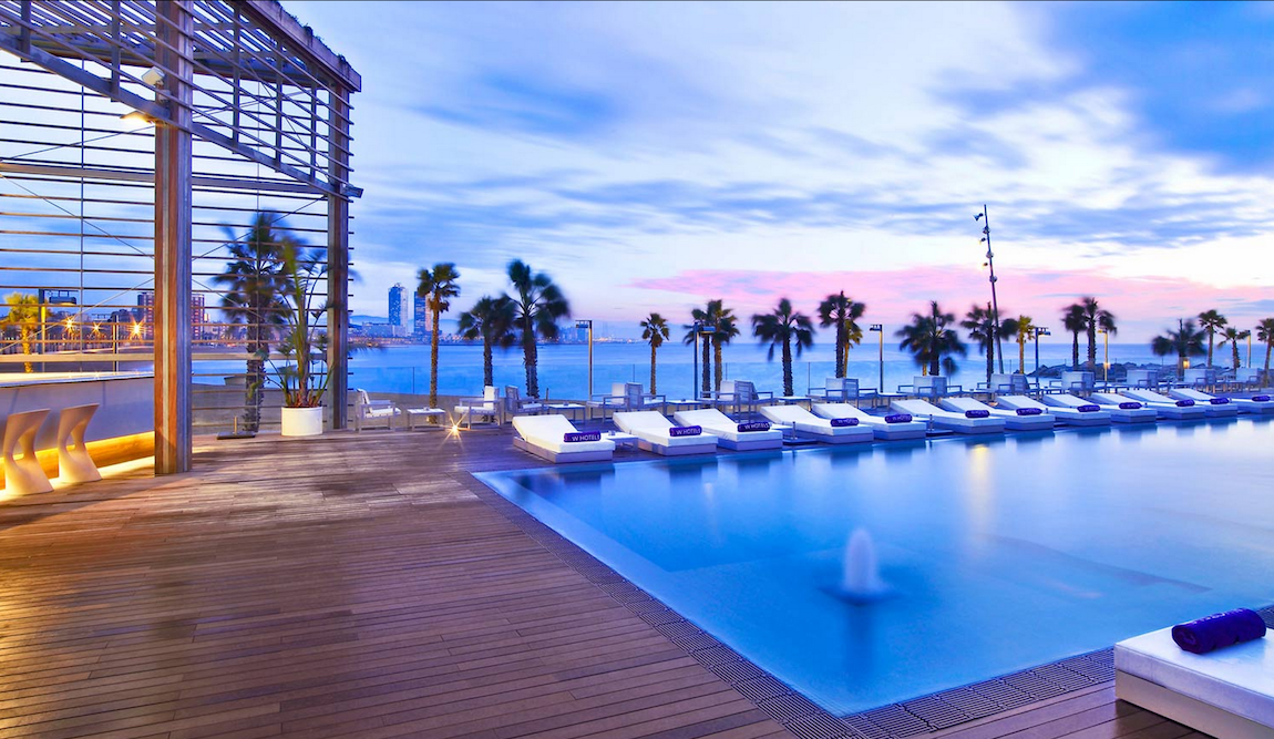 The W Barcelona Is Located On The Beachfront Along The Famous