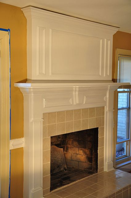 Brick fireplace makeover richmond va for the home - Floor to ceiling brick fireplace makeover ...