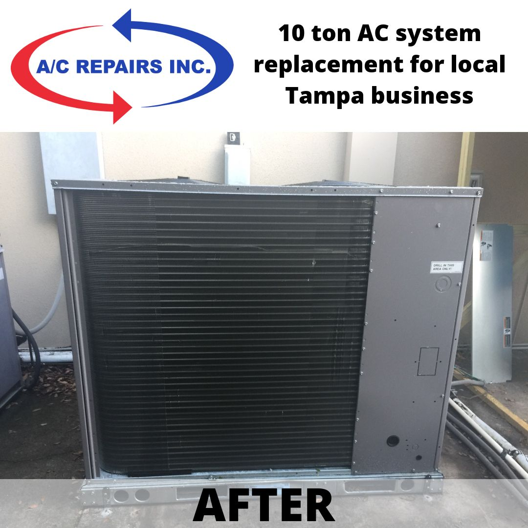 10 ton AC system replacement for local Tampa business