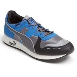 06dc4624778564 PUMA  RS 100 AW  Sneaker (Men) Steel Grey  Palace Blue  Black 8 M ...