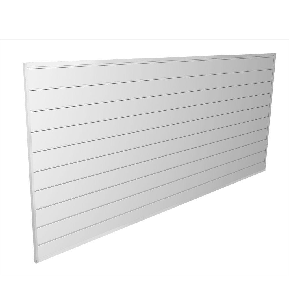 Proslat 32 Sq Ft White Wall Panel Kit Slat Wall Wall Paneling Garage Wall Storage