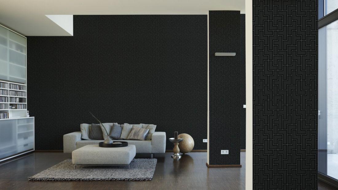 MICHALSKY LIVING Tapete 939371; simuliert auf der Wand interior - schöner wohnen tapeten wohnzimmer