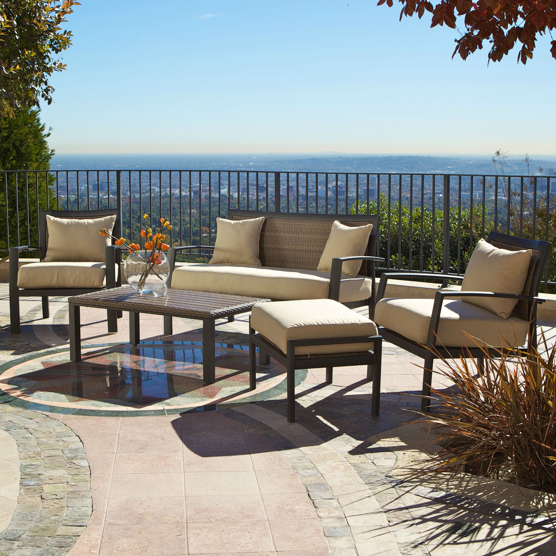 Rst Outdoor Zen 5 Piece Deep Seating Group With Cushions Reviews