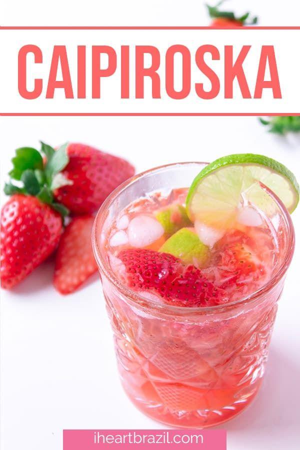 Photo of Strawberry Caipiroska: A Refreshingly Fruity Strawberry Vodka Drink