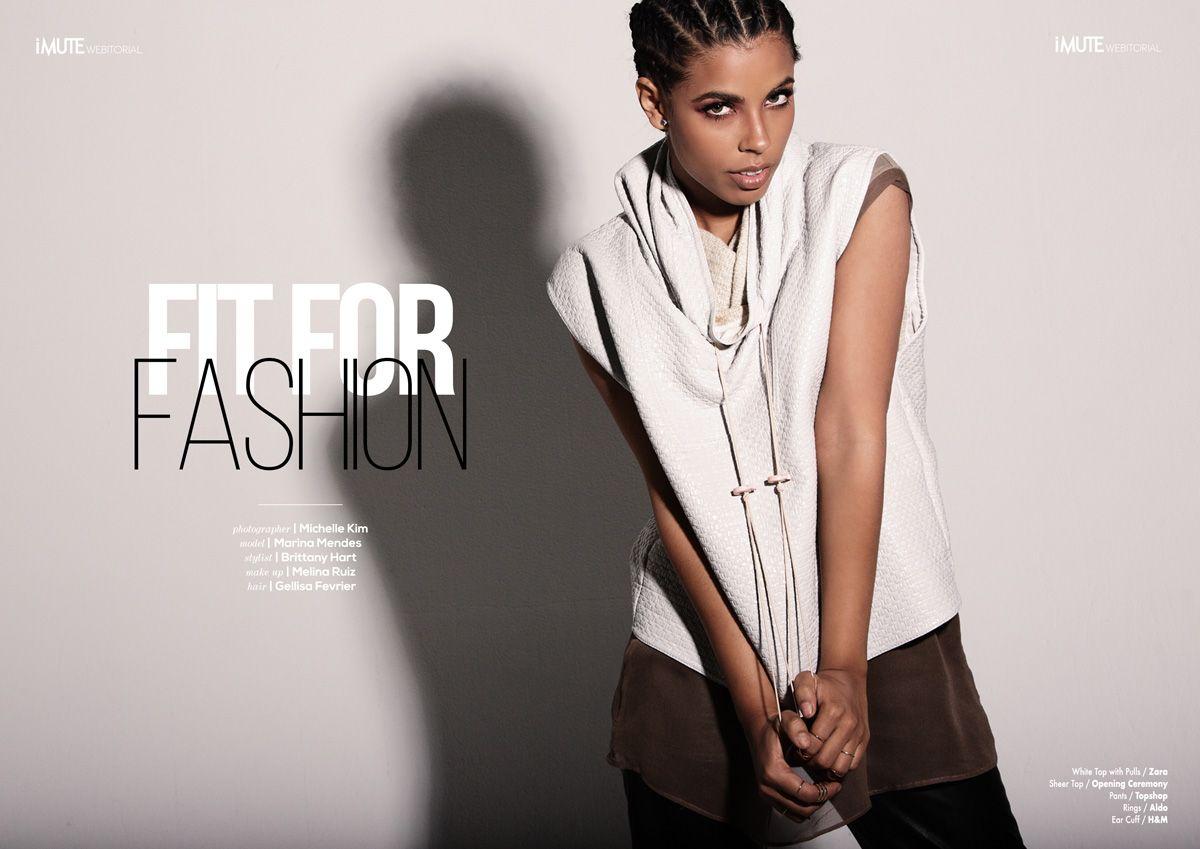 Fit for Fashion webitorial for iMute Magazine. > imutemagazine.com Photographer / Michelle Kim Model / Marina Mendes Stylist / Brittany Hart Make up / Melina Ruiz Hair / Gellisa Fevrier #imutemagazine  #nofilter #fashion #moda #style #editorial #photo #photoshoot #imute