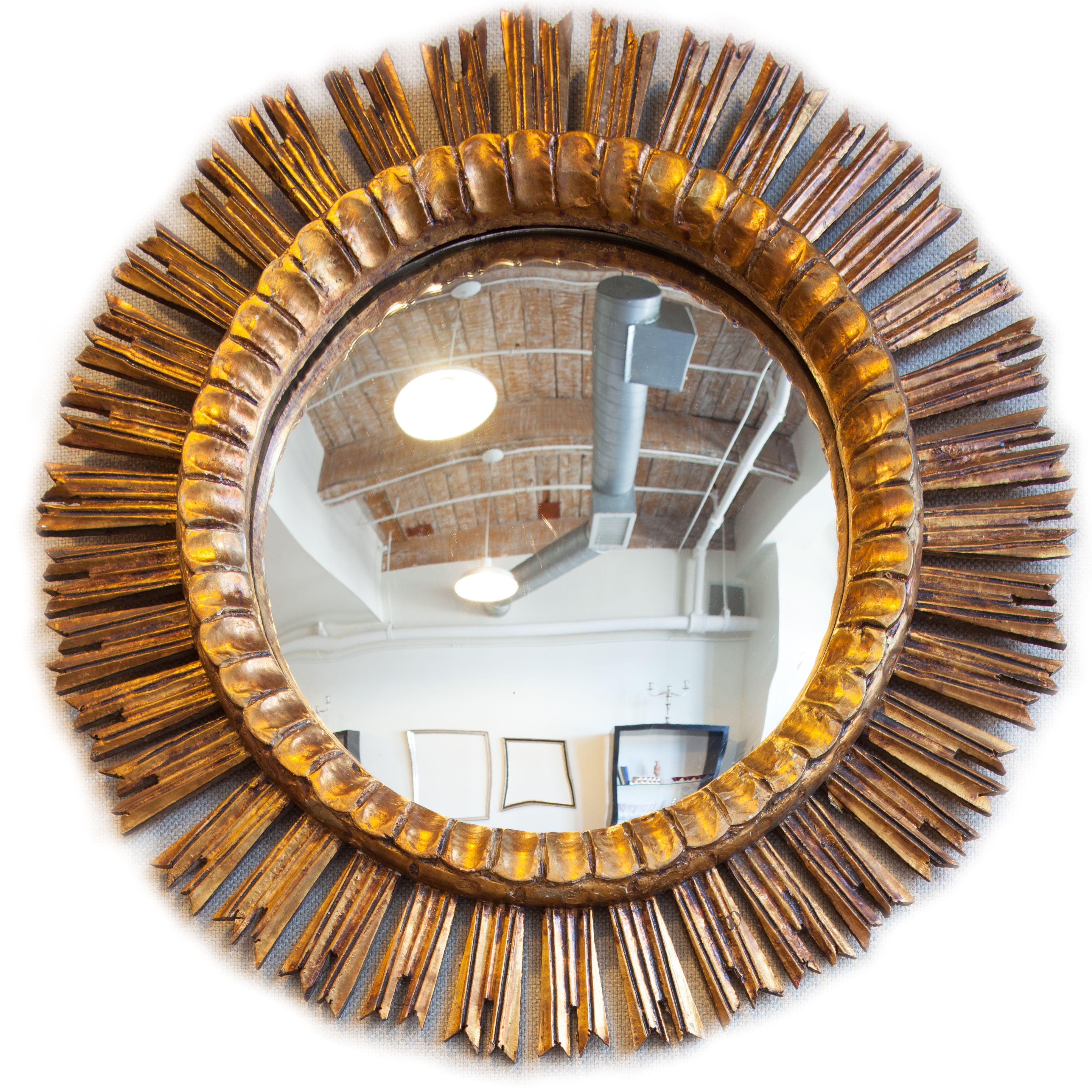 French Gold Gilt Sun Mirror for sale online at Renae Cohen ...