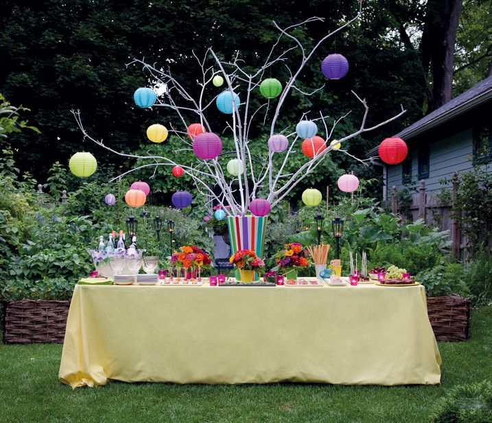 backyard party ideas with simple and full of party supplies and