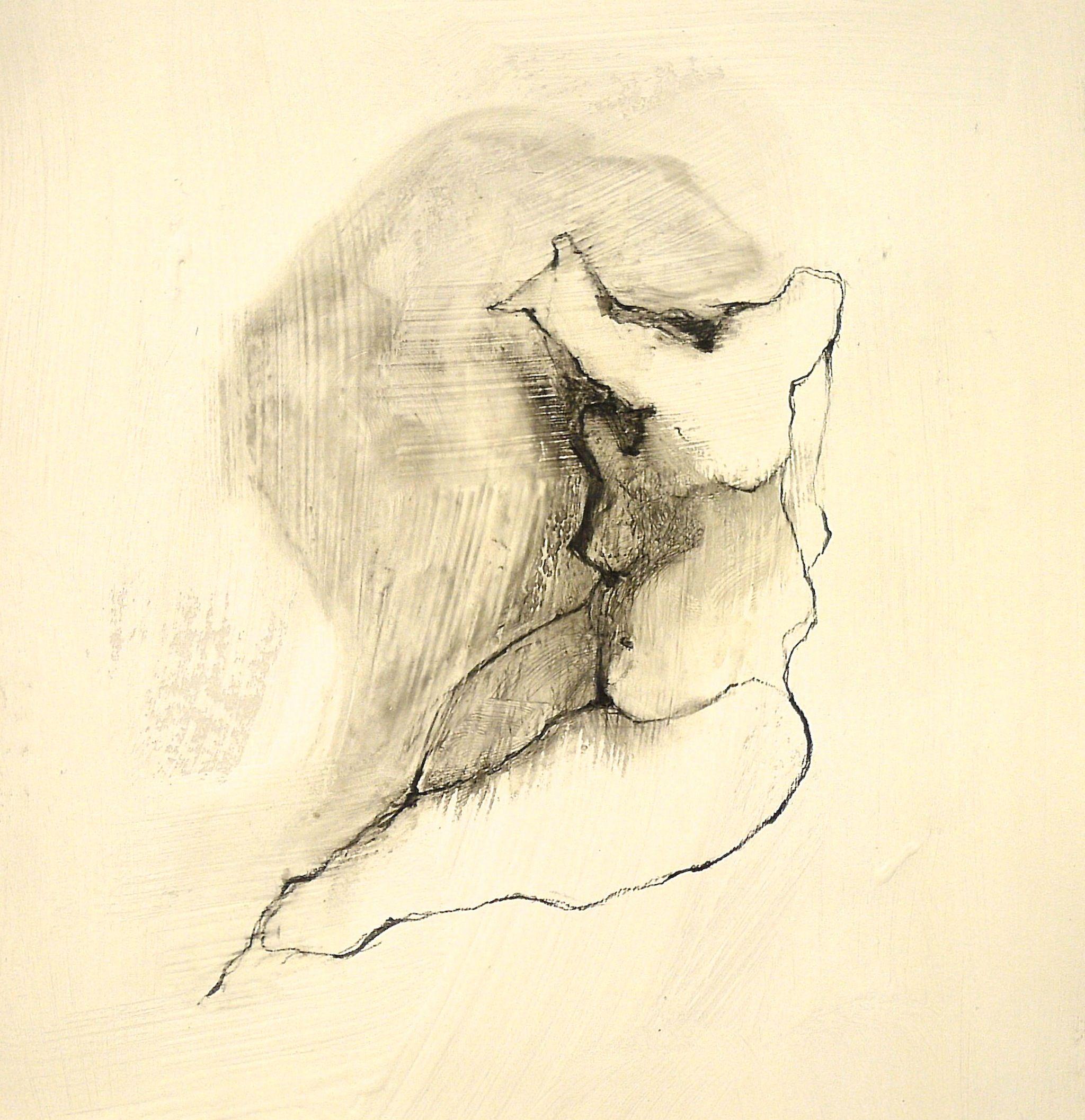 "For Sale: Figure 10 by Maria Nucci | $100 | 7""w 7""h | Original Art |…"