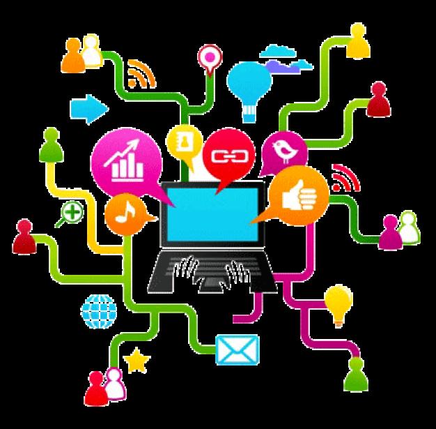 Social Media Illustration Png 626 615 Media Literacy Social Media Traffic Social Media Strategies