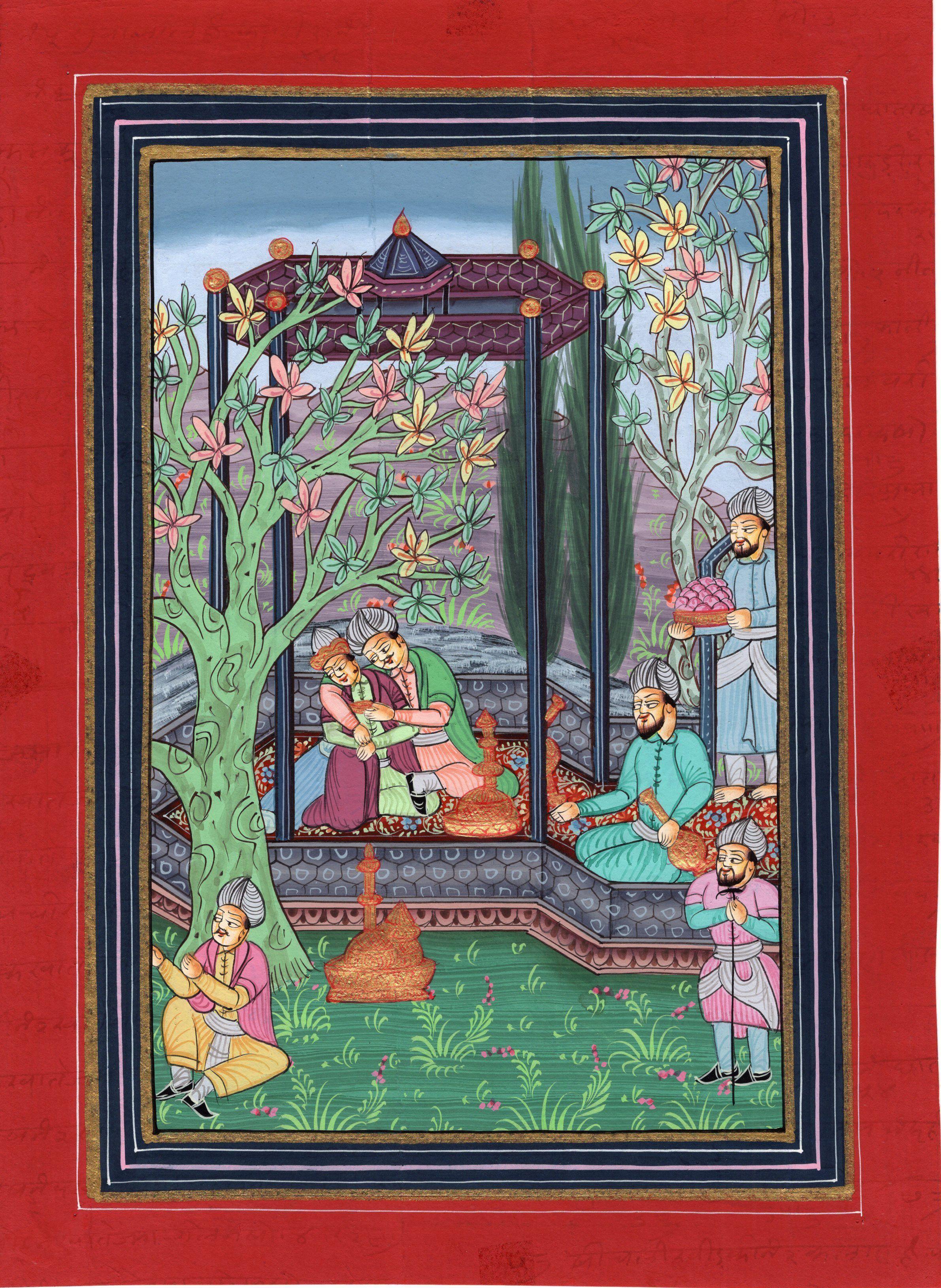 Artnindia mughal paintings persian miniature miniature art