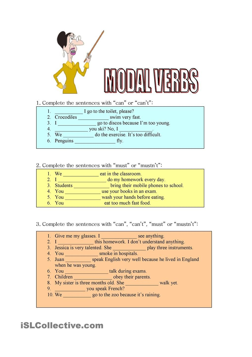 Modals of ability, obligation and prohibition Bahasa