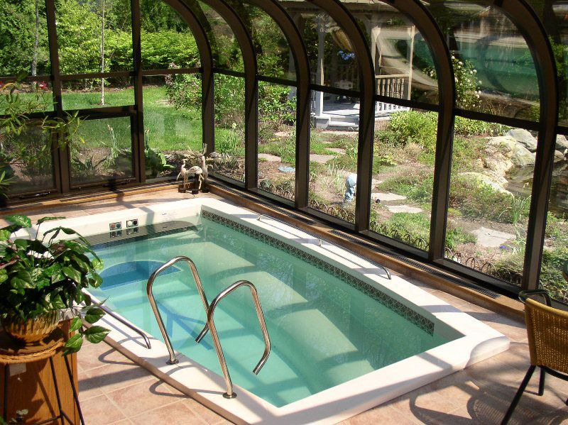 Rather than swimming pool my dream is an indoor swim spa combo my dream board my ranch and for Enclosed swimming pool designs