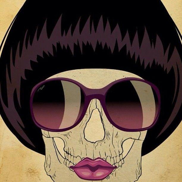 #skull #skulls #sunglass #caveira #art #digitalart #girl