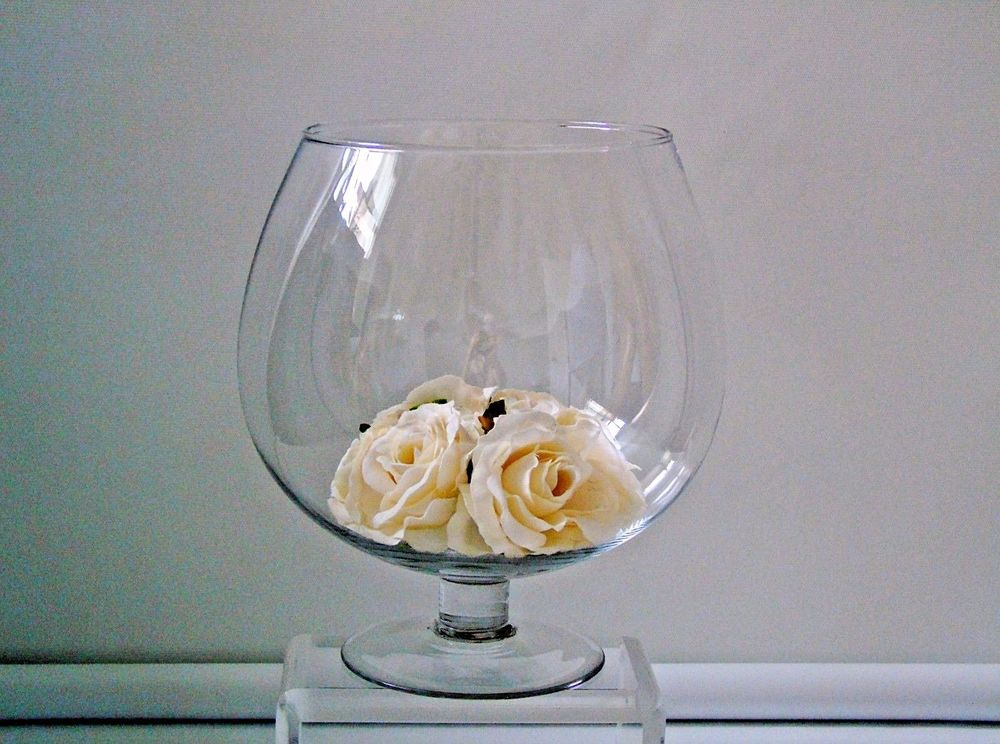 Oversized Glass Brandy Snifter Decorative Barware Vase Fish Bowl