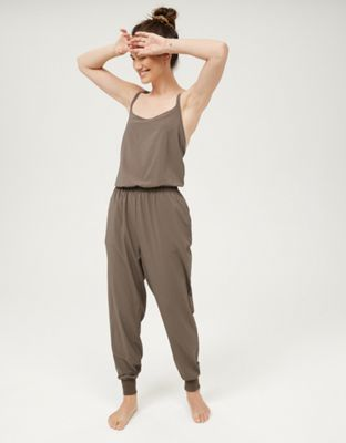 OFFLINE Nylon Jumpsuit by THE FABRIC: Seriously soft nylon.   Shop the OFFLINE Nylon Jumpsuit and check out more at AE.com.