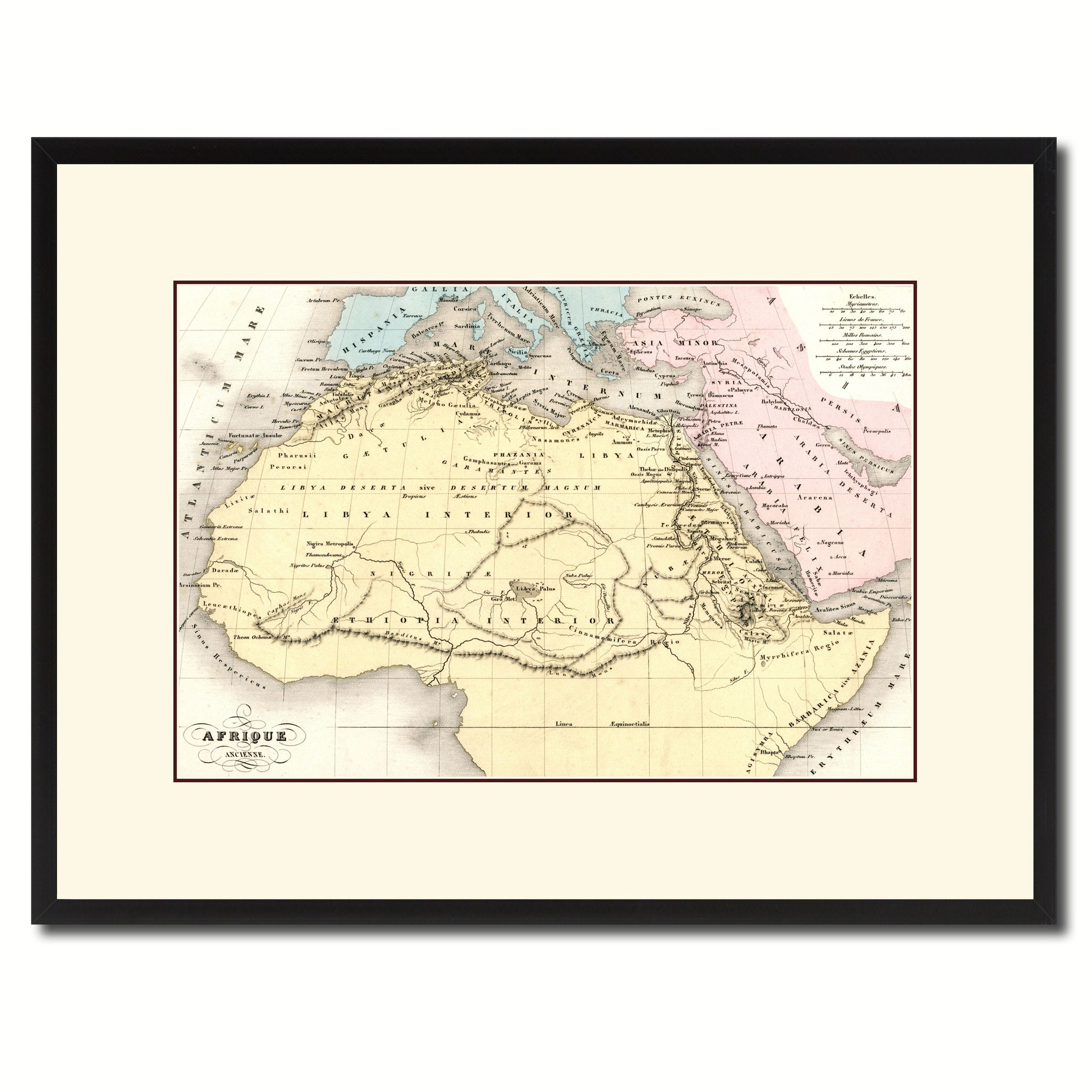 Ancient Africa Vintage Antique Map Wall Art Home Decor Gift Ideas ...