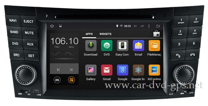 Android Head Unit Car DVD Player for Mercedes Benz E / CLK