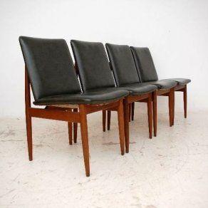 Set Of 4 Retro Australian Teak Dining Chairsparker Vintage Custom Dining Room Chair Set Of 4 Decorating Design