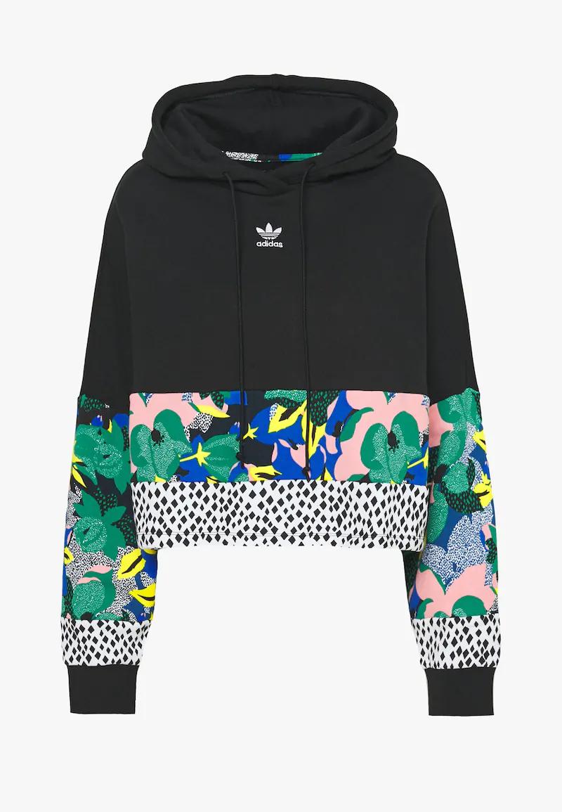 Adidas Originals Cropped Hoodie Bluza Z Kapturem Black Zalando Pl Crop Sweatshirt Hoodie Cropped Hoodie Adidas Cropped Hoodie