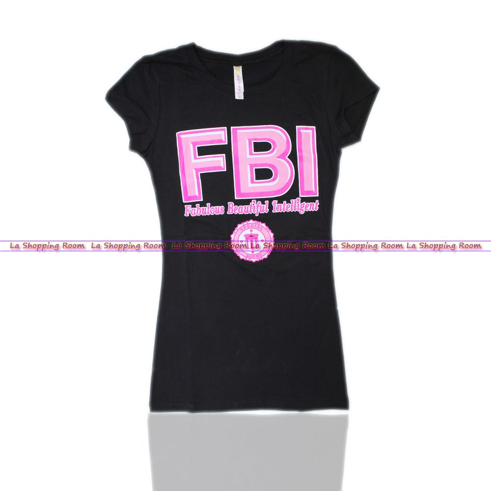 Details about Women Funny T-Shirt FBI Fabulous Beatiful ...