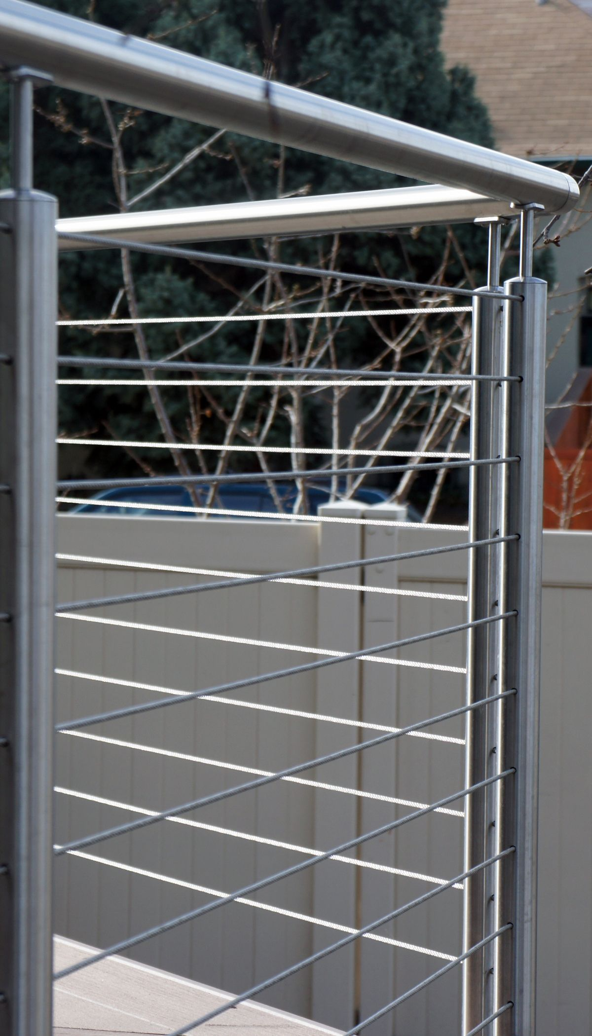 An all stainless wire railing installation http://www.indital.com ...