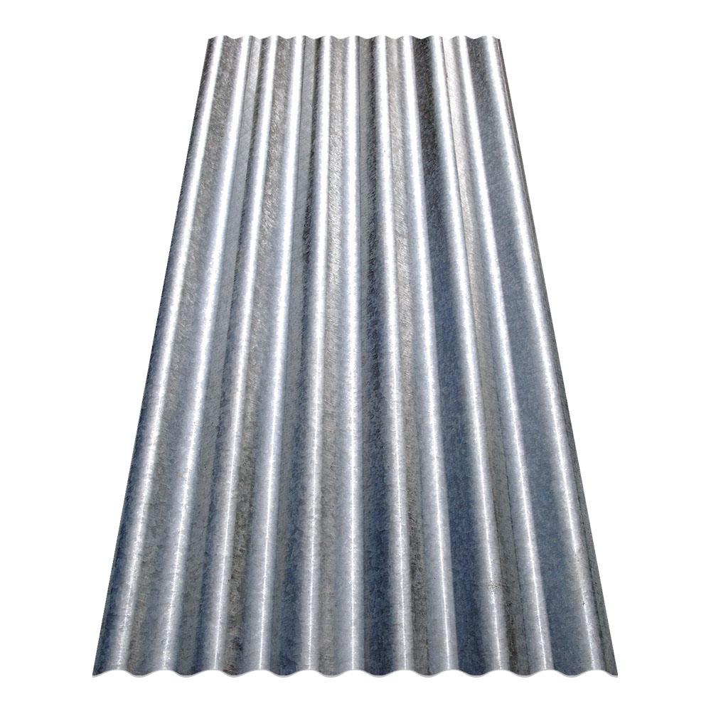 Gibraltar Building Products 8 Ft Corrugated Galvanized Steel Utility Gauge Roof Panel 13513 The Home Depot In 2020 Steel Roof Panels Corrugated Metal Roof Galvanized Metal Roof