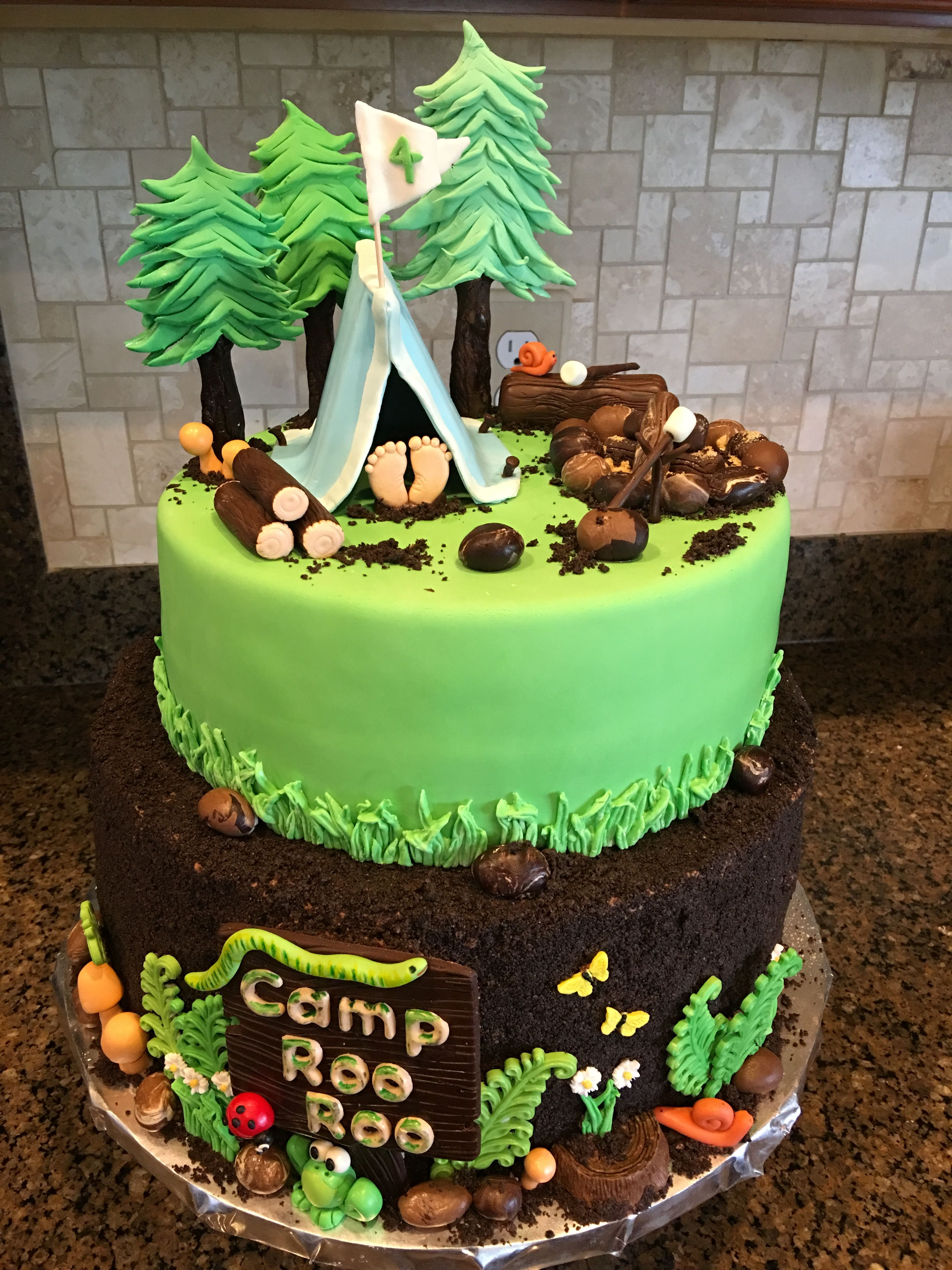 Pin by angela cooleduke on camping cakes camping cakes
