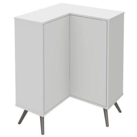 Bestar 17162 1117 Small Space Krom Corner Storage Unit White Walmart Com Corner Storage Corner Storage Cabinet Corner Storage Unit