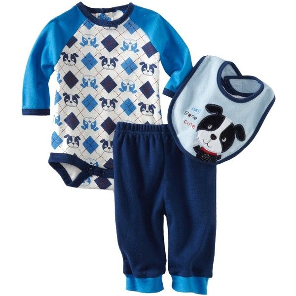 ae36e8b36 Bon Bebe Baby-boys Newborn Dog Gone Cute 3 Piece Pant Set ❤ liked ...