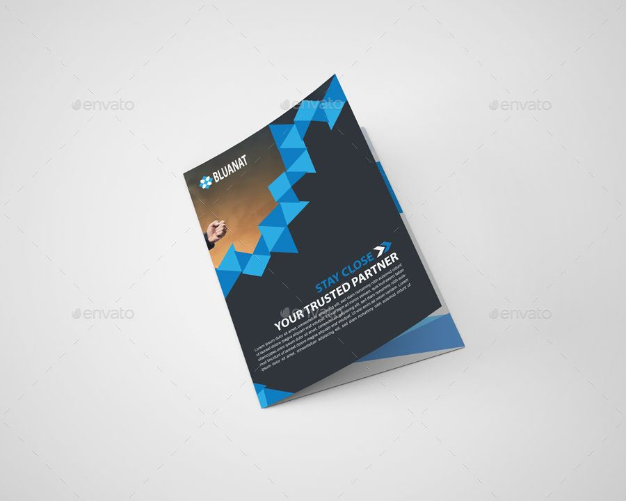 Itu0027s a Bluanat Corporate Bi Fold Brochure Template Design for any - bi fold brochure template word