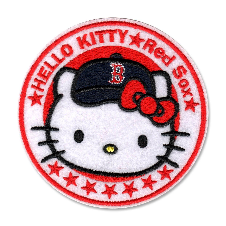 Boston Red Sox Hello Kitty 4x2.5in Circle Logo Patch, $10 via ...