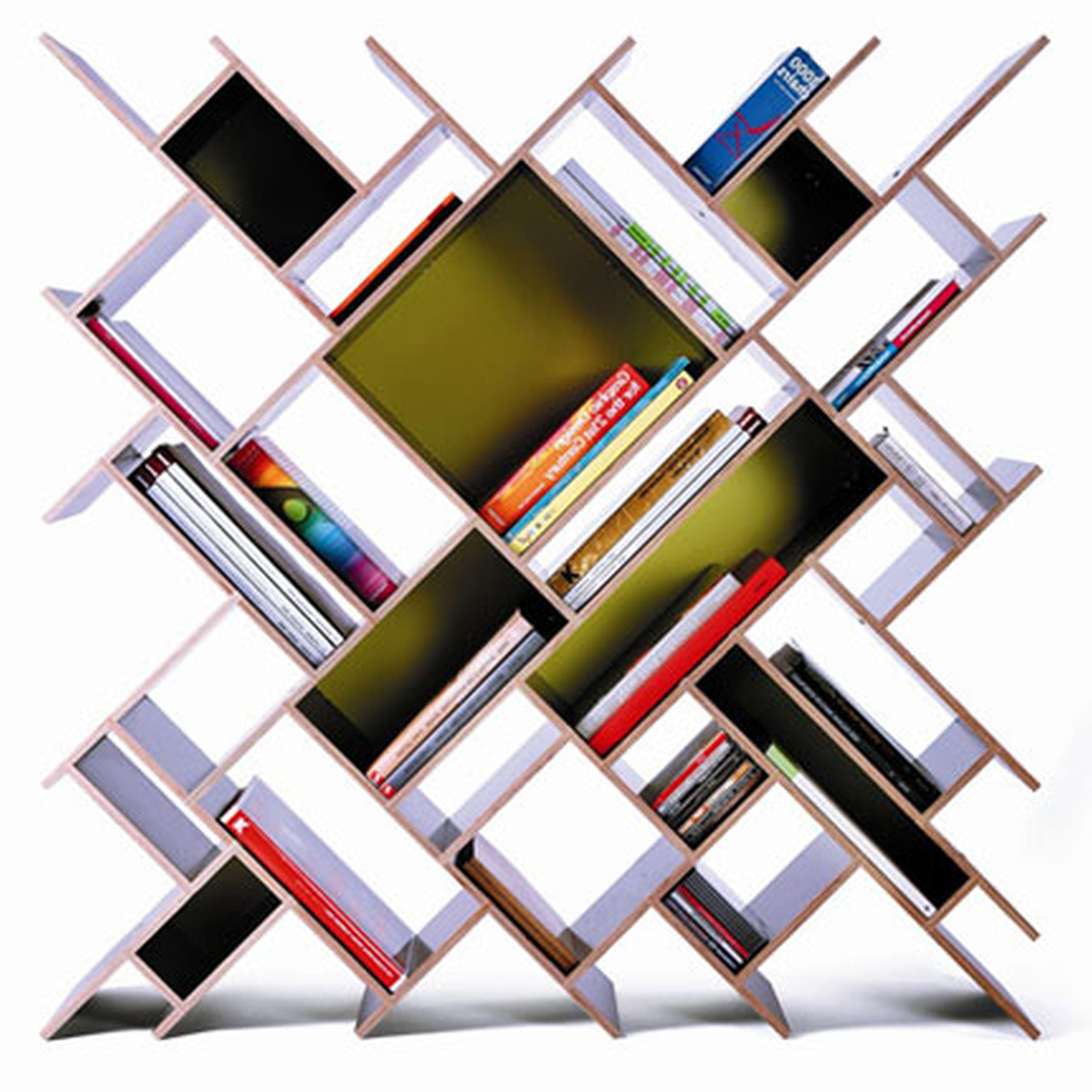 Decoration Unique Futuristic Bookcase Style With Tilt Concept And Idee Scaffale Design Scaffali Idee