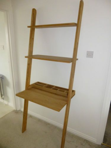 Futon Company Oak Lean To Desk Bookshelves Vgc