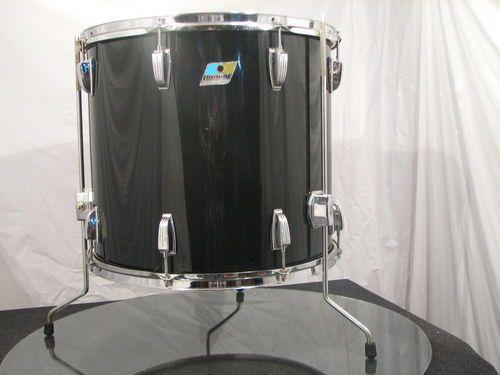 Ludwig Solid Black Vistalite 18 Inch Floor Tom 1978 Complete Excellent Ebay Vintage Drums Drums Music Instruments