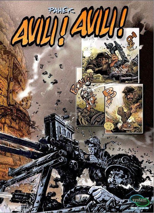 "I L I J A D A: NA OTPADU SJAJNE BUDUĆNOSTI – ""Avili! Avili!"", strip album, Željko Pahek izdavač: System Comics, 2012."