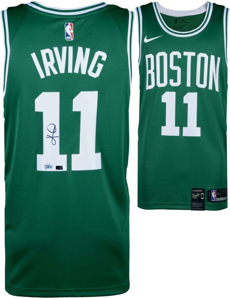 best loved dad82 38e34 Kyrie Irving Boston Celtics Autographed Green Nike Swingman ...