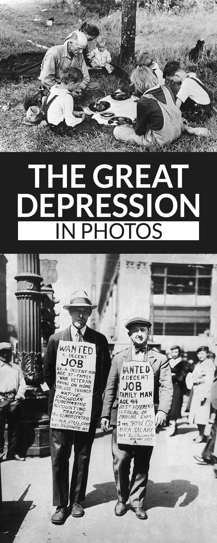 Never-Before-Seen Photos of the Great Depression #history