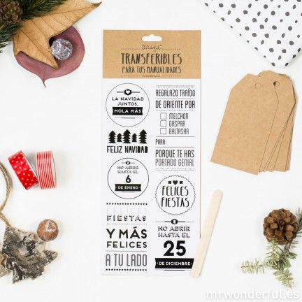 Transferible navideño