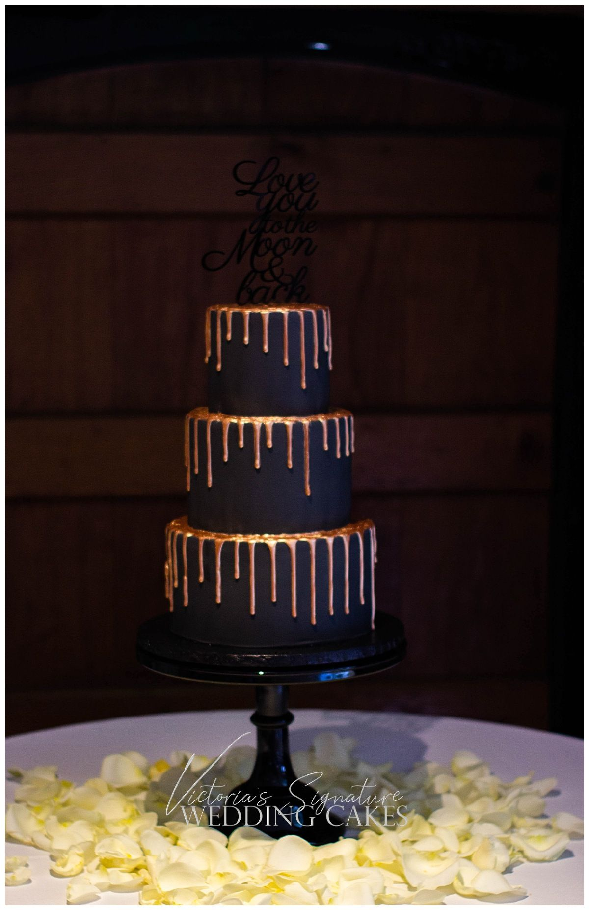 Bold And Sophisticated With This Black And Rose Gold Drip Wedding