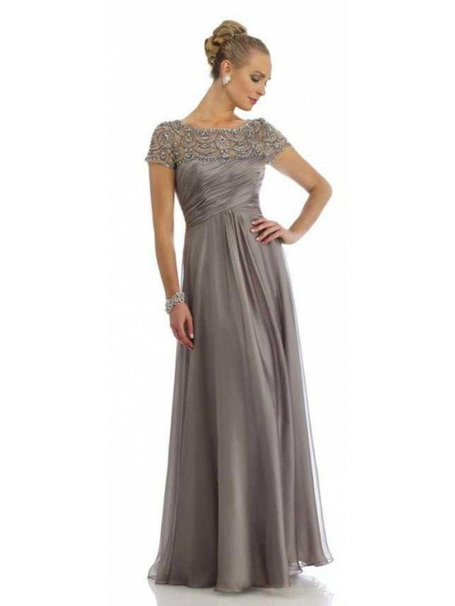 Mother S Day Will Come Dress Recommendations For Lovely Mom Grey Of The Bride Dresses Scoop Beading Floor Length Elegant Zipper A Line Chiffon