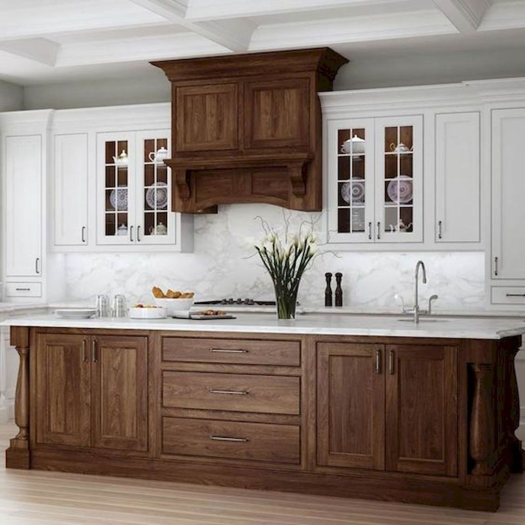 60 Lovely Painted Kitchen Cabinets Two Tone Design Ideas ...